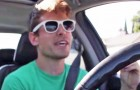 This guy starts singing in the car: shortly after something magical happens !
