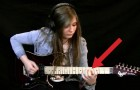 He films his student while playing the electric guitar: her talent is mind blowing !