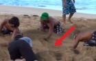 Ze graven in het zand: dit project zal je versteld doen staan!