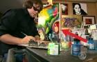 Deze artiest is compleet blind, maar zijn schilderijen blijven prachtig