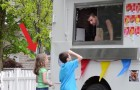 Un heladero de mentira los invita a subir al furgon: la reaccion de una sola niña es espectacular