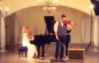 Ouça como eles transformam uma música clássica em modo espetacular apenas com piano e violino