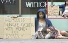 Uno chiede soldi per sua figlia, l'altro per comprarsi droga: la reazione della gente è sconcertante