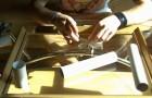 Ein alter Rahmen und Kartonrollen. So macht man etwas tolles für zuhause
