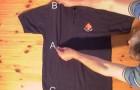 Imparate a piegare una maglia in meno di 2 secondi con questo trucco formidabile