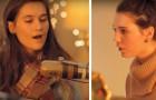 Dos hermanas entonan un clasico...las voces juntas hacen soñar