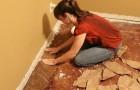 Incolla pezzi di carta sul pavimento... Un'idea fai-da-te dal risultato affascinante!