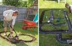 Hier Zijn Enkele Ideeën Voor Het Uitgraven Van Een Spoor In De Tuin, Kinderen Zullen Er Weg Van Zijn