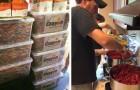 Un papà raccoglie pastelli usati da scuole e ristoranti: ciò che ne fa è esemplare