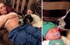 Elle refuse d'éloigner son chien pendant la grossesse, et lui la remercie en lui sauvant la vie