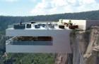 Vietato l'ingresso ai deboli di cuore: ecco il terrificante bar sospeso su un canyon messicano