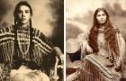 Die Schönheit der amerikanischen Ureinwohner fotografiert am Ende des 18. Jahrhunderts vor dem Völkermord