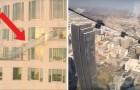 Je raadt nooit wat ze op 300 meter hoogte hebben gebouwd op dit gebouw!