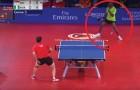 41 Schläge in 40 Sekunden: den Ballwechsel in diesem Tischtennisspiel MUSS MAN SEHEN!
