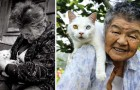 Une vieille femme trouve un chat en train de mourir: voici les images de rêve prises par la petite-fille