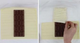 Elle enroule une tablette de chocolat dans la pâte feuilletée: après une demi-heure, cette bonté est prête!