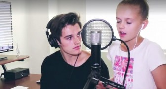 A sister and brother sing a beautiful cover mashup!