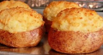 Pommes de terre farcies cuites 2 fois: un seul ingrédient suffit pour cette excellente recette!