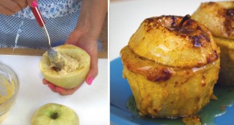Scoop out an apple and fill it with sweet stuffing!
