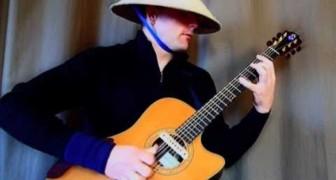 Suona la musica trance con la chitarra