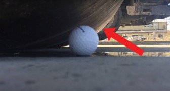 Ponen a prueba la resistencia de una pelota de golf: el resultado del experimento los deja sin habla!