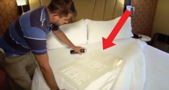 Les hôtels changent les draps quand arrive un nouveau client? La réponse dans ce test...