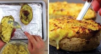 Batatas recheadas cozidas duas vezes: uma receita deliciosa!