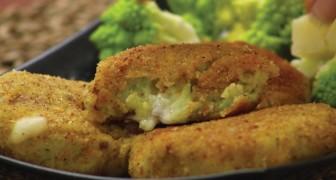 Dol op snacks? Je zult deze snack met aardappel, broccoli en Asiago kaas onweerstaanbaar vinden!