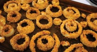 Des onion rings cuits AU FOUR: voici une version plus saine sans friture
