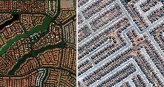 Les endroits les plus étranges vus depuis un satellite: ce que l'homme a réussi à créer est incroyable