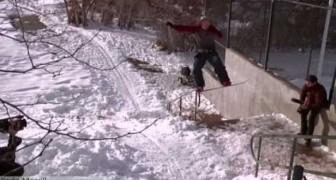 Cuando el snowboard se convierte en locura!