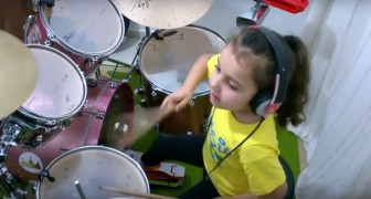 A little drummer with A HUGE talent!