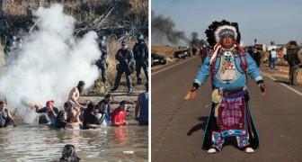 Vogliono costruire un oleodotto vicino alla terra dei nativi: ecco la loro silenziosa protesta