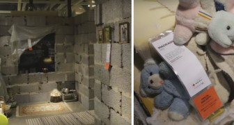 Reconstruyen una casa siria en el interior del negocio IKEA: el contraste hace sentir escalofrios