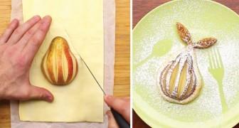 Asi es como se transforma una simple pera en un dulce delicioso para la vista y el paladar
