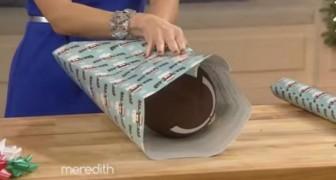 Como envolver objetos de forma particular usando el papel de regalo facilisimo!