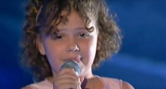 Den här flickans talang ligger i blodet: hon är systerbarn till en stor italiensk artist!