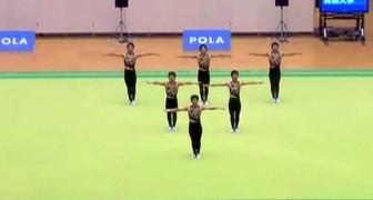 A perfeição dos bailarinos sincronizados