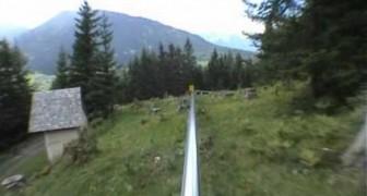 Bajada impresionante entre los alpes austriacos