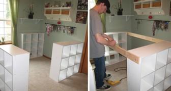Une 3 estanterias IKEA y realiza un mueble fantastico para la mujer