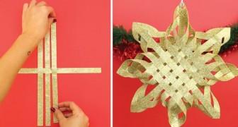 Make a Beautiful Gold Christmas Star!