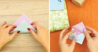 Como dobrar uma folha de papel e fazer um cartão para presentes muito original!