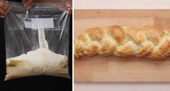 Wie man mit Hilfe einer Plastiktüte einen köstlichen Brotzopf zubereitet