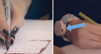 A cause de la maladie de Parkinson, elle ne peut plus dessiner: voici comment un bracelet a changé sa vie