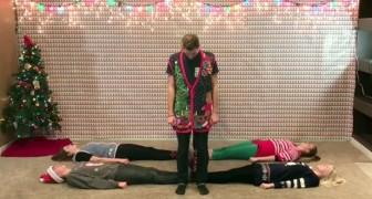 8 hermanos y hermanas se posicionaron: la coreografia de Navidad conquista la web