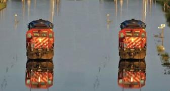 Em Bangladesh tem um trem que anda sobre a água... e não é magia!