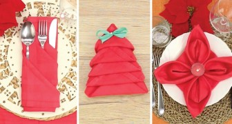Christmas Napkin folding designs!