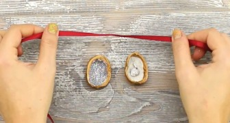 How to upcycle a walnut shell into a gift box!