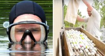 Ex disoccupato guadagna 15 milioni di dollari... immergendosi nei laghetti dei campi da golf
