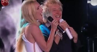 Rod Stewart betritt die Bühne mit seiner Tochter: das Duett mit einem berühmten Lied ist wundervoll